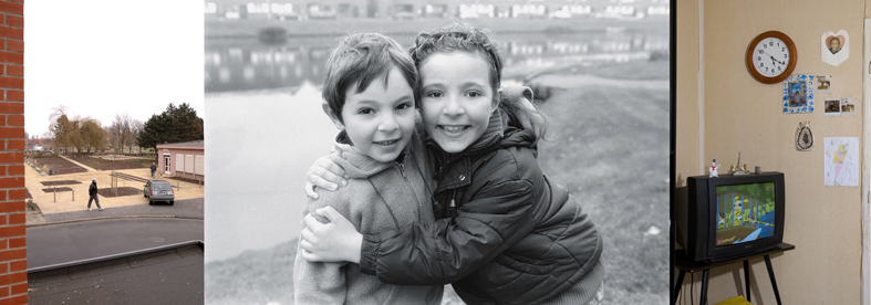 Two children embraced - © photo Anna Solé